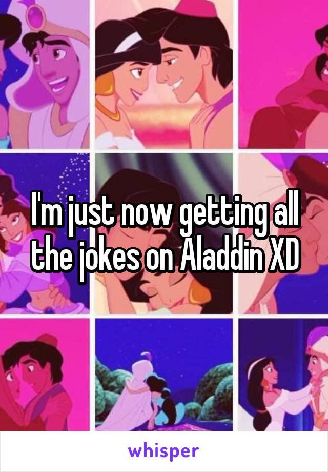 I'm just now getting all the jokes on Aladdin XD