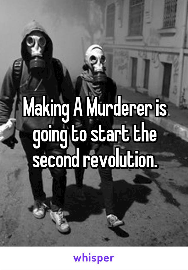 Making A Murderer is going to start the second revolution.