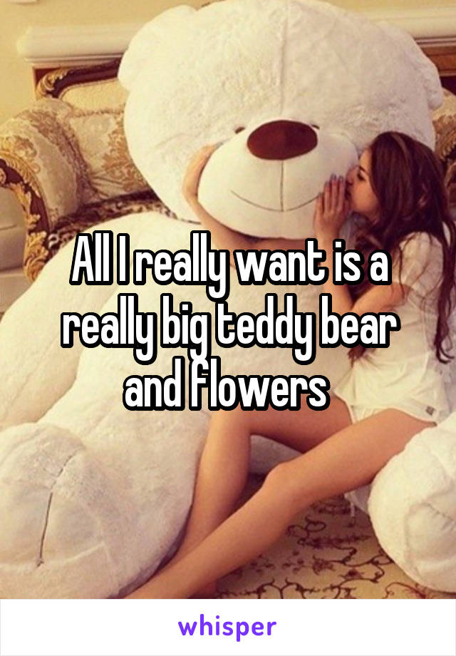 All I really want is a really big teddy bear and flowers