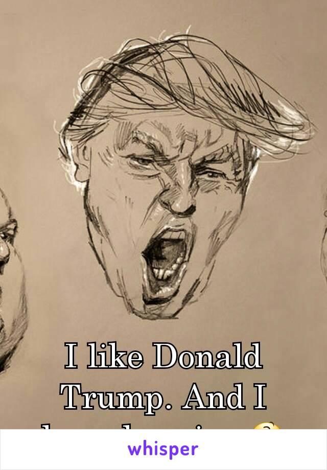 I like Donald Trump. And I hope he wins 😆