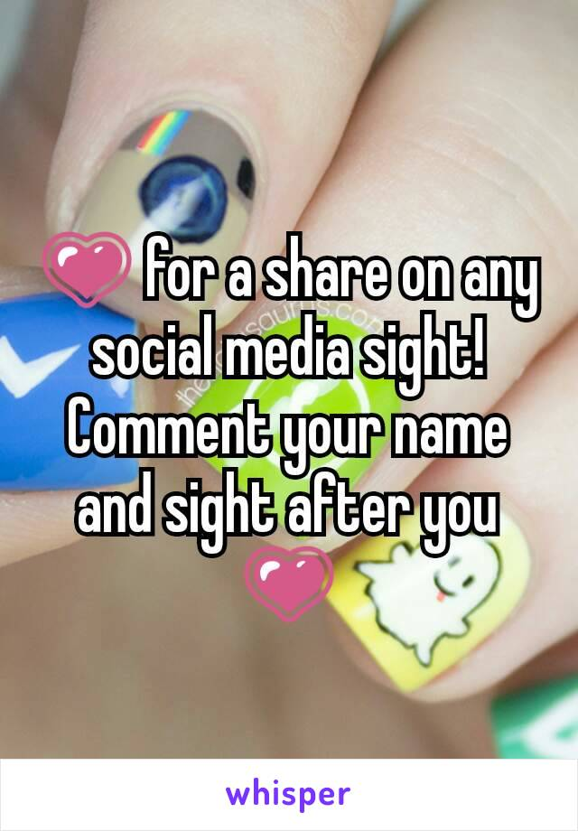 💗 for a share on any social media sight! Comment your name and sight after you 💗