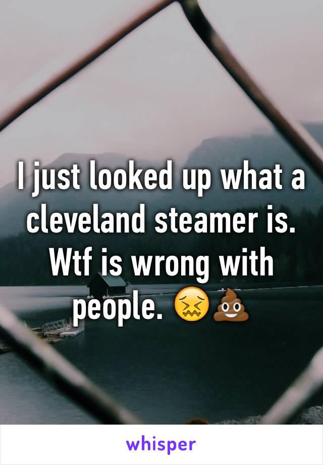 I just looked up what a cleveland steamer is. Wtf is wrong with people. 😖💩