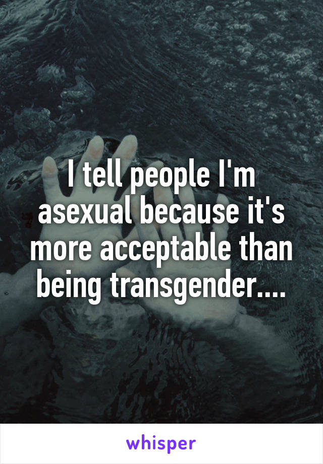 I tell people I