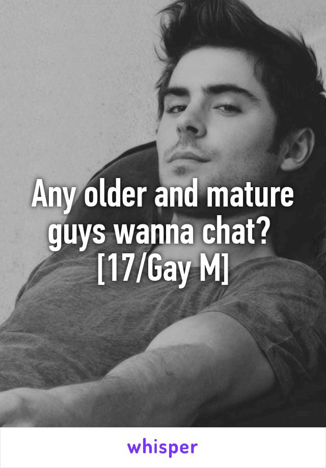 Mature Male Chat