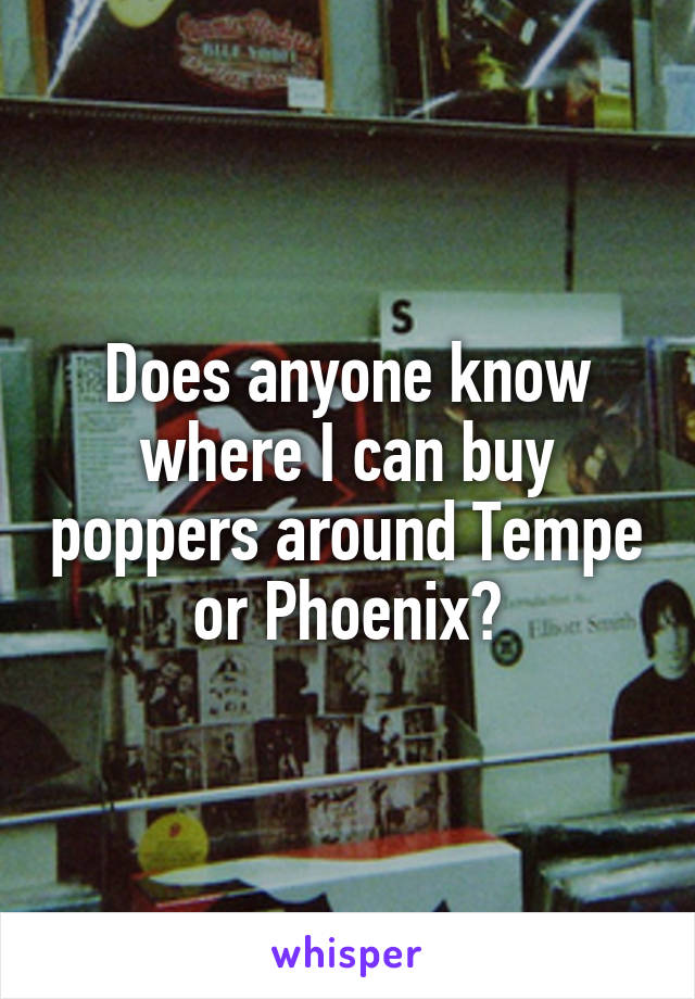 Does anyone know where...?