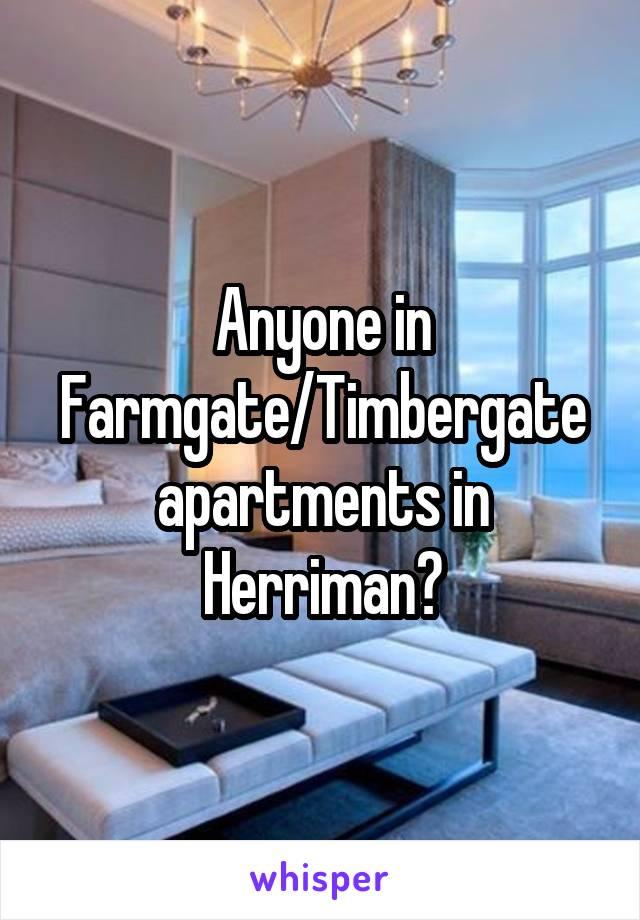 in Farmgate/Timbergate apartments in Herriman?