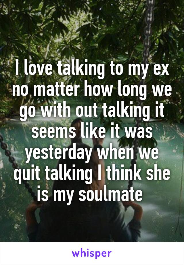 I Think My Ex Is My Soulmate