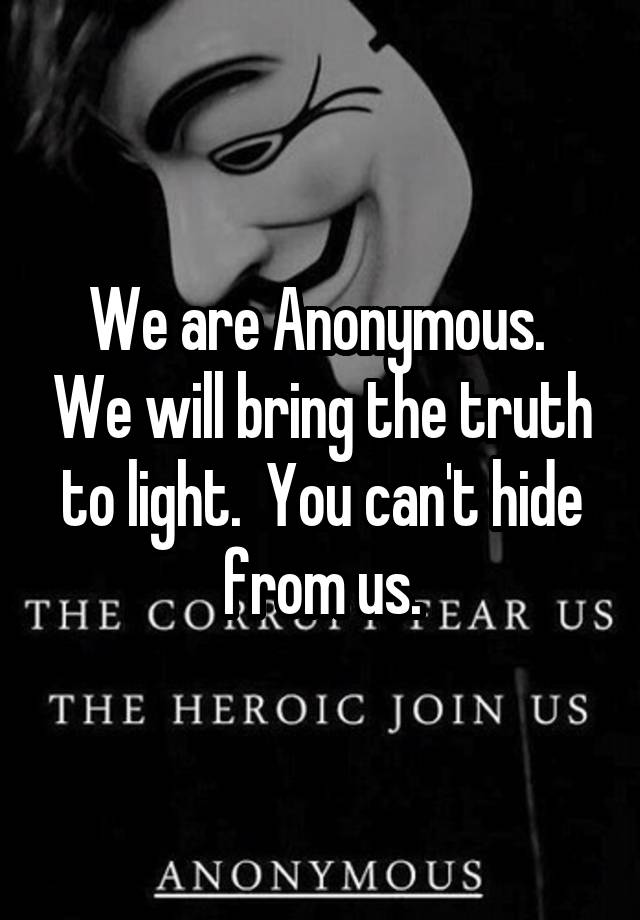 We Are Anonymous Book