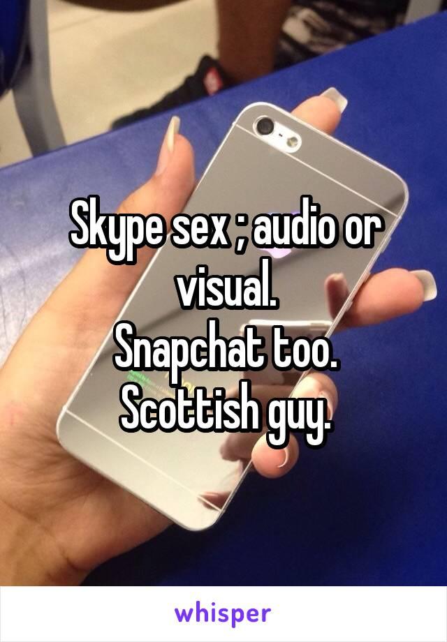 секс через скайп аудио