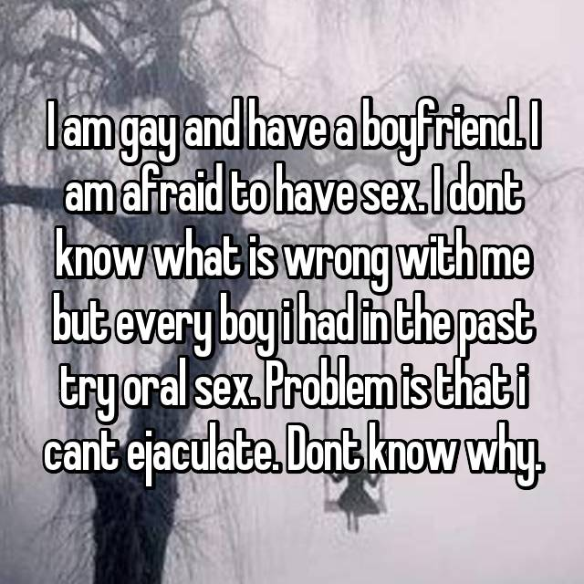 i am scared to have sex