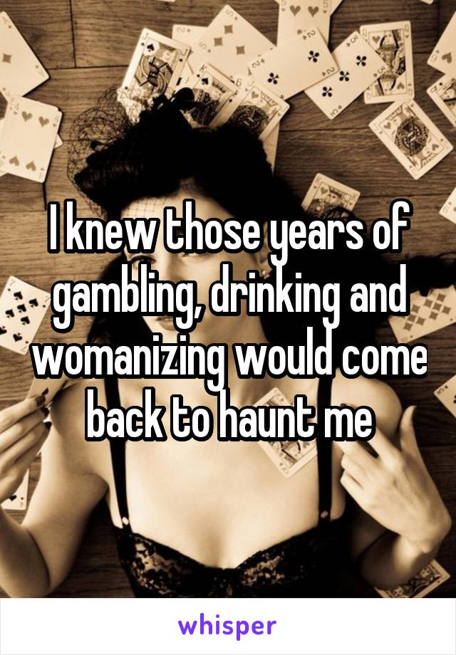 Drinking gambling womanizing casino decorations for party