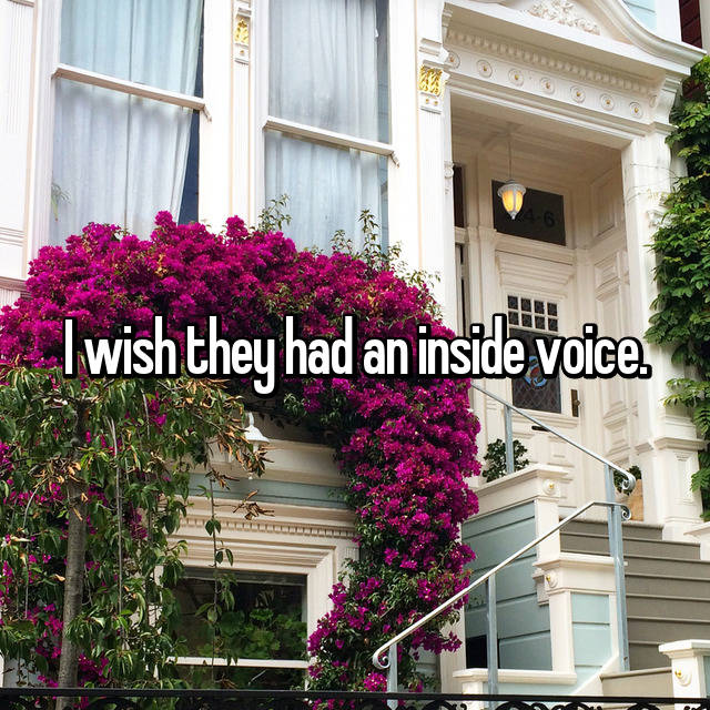 I wish they had an inside voice.