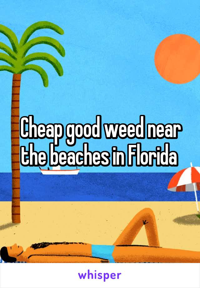 Cheap good weed near the beaches in Florida