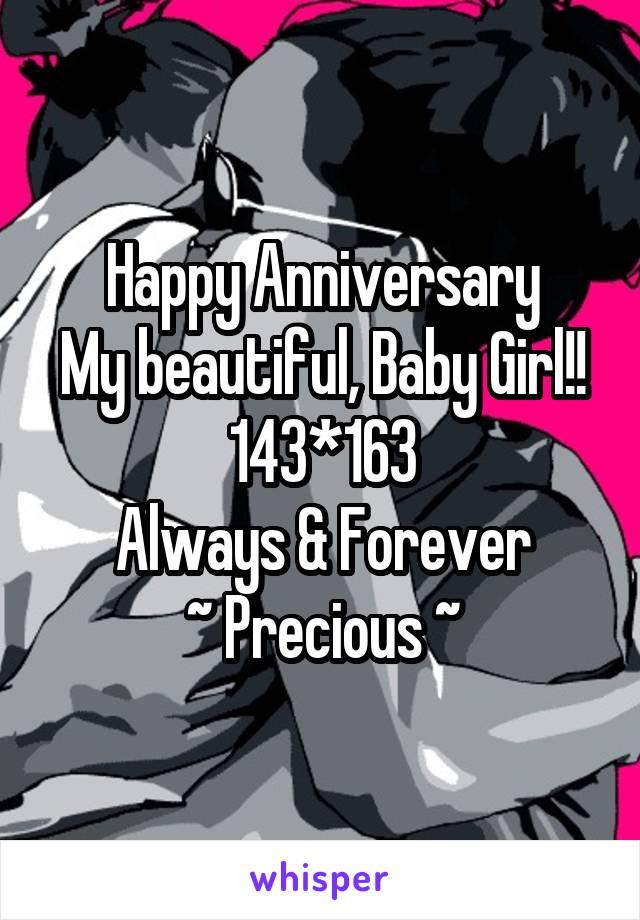 happy anniversary baby girl