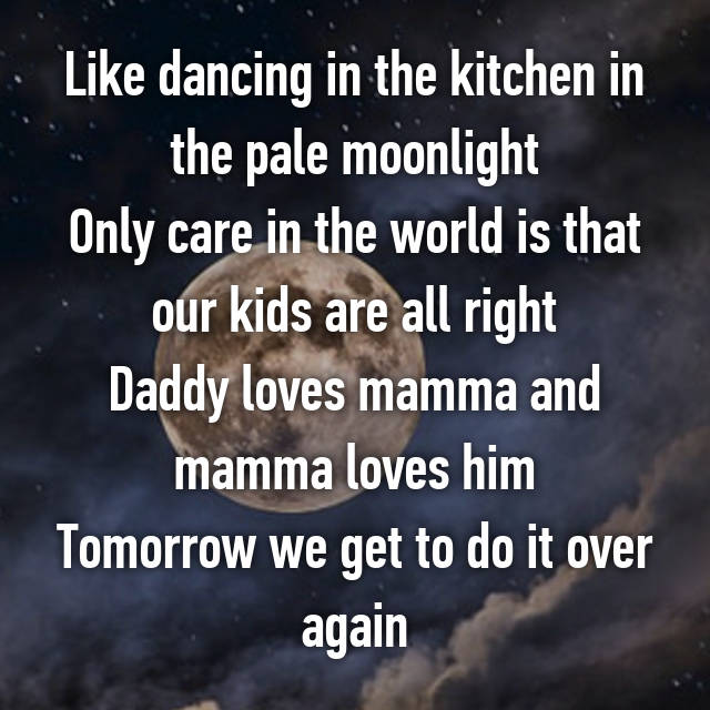 Kitchen In The Pale Moonlight Only Care