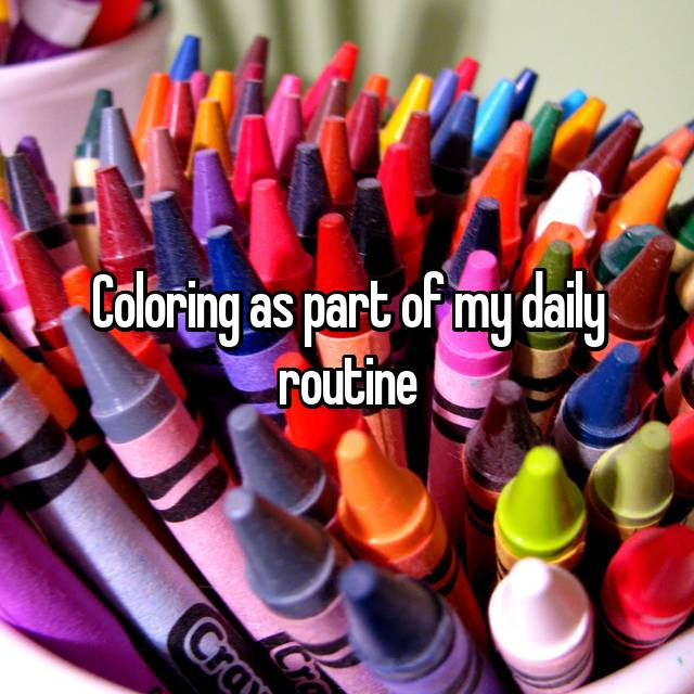 Coloring as part of my daily routine