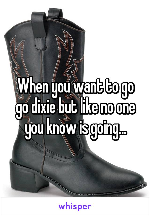 When you want to go go dixie but like no one you know is going...