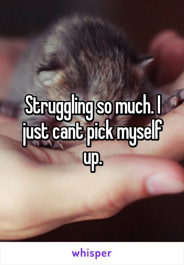 Struggling so much. I just cant pick myself up.