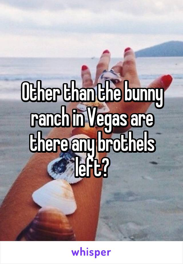 Other than the bunny ranch in Vegas are there any brothels left?