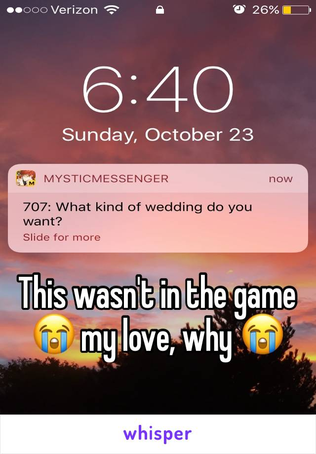 This wasn't in the game 😭 my love, why 😭