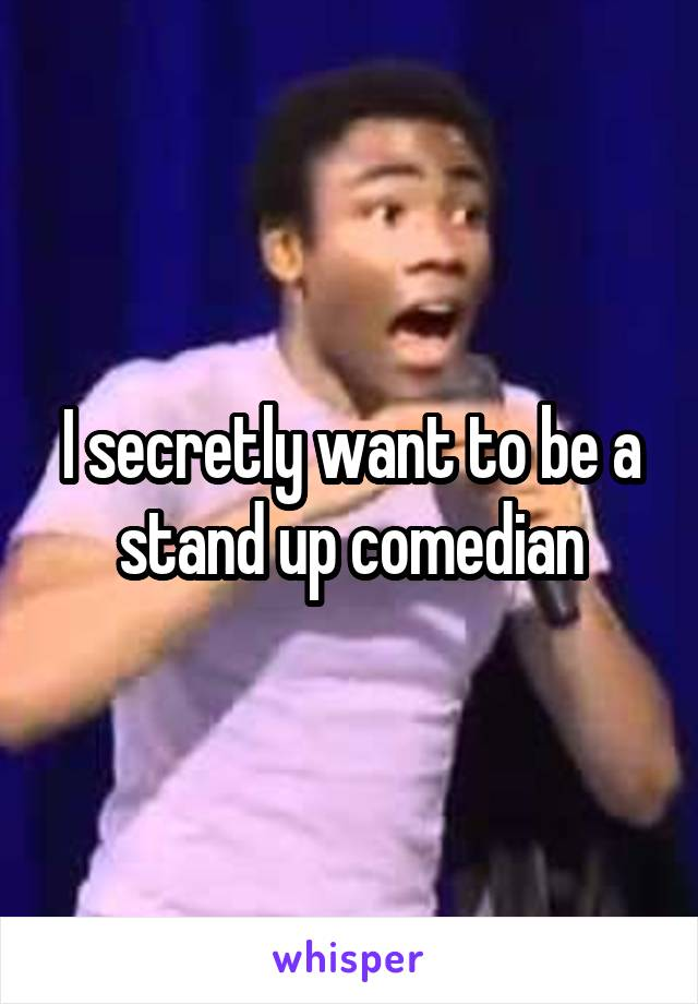 I secretly want to be a stand up comedian
