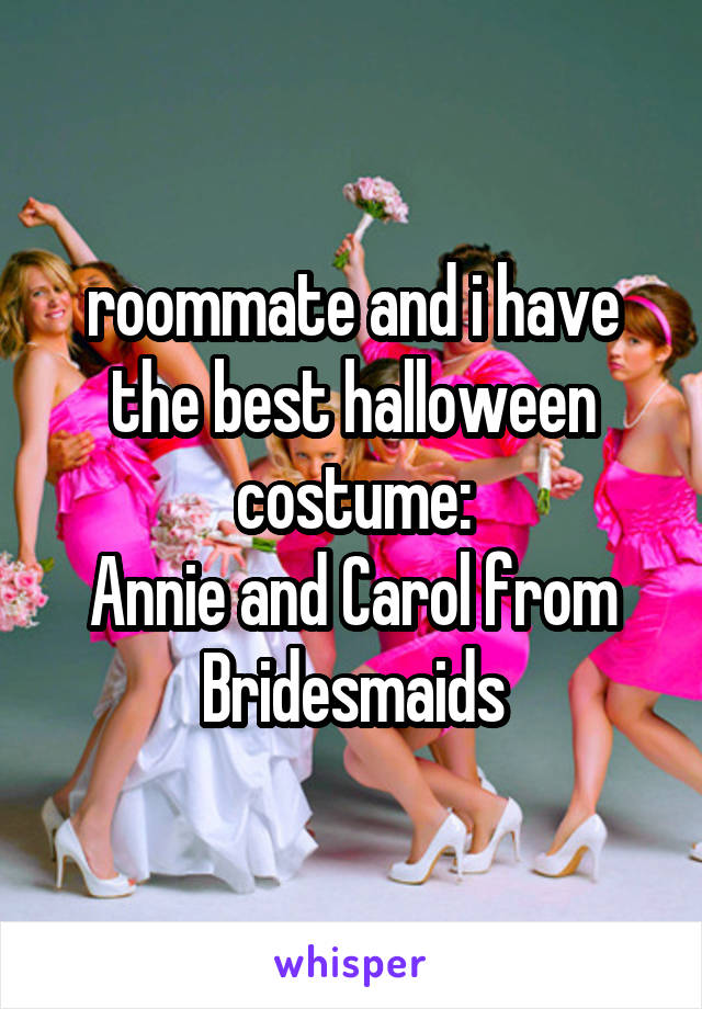 roommate and i have the best halloween costume: Annie and Carol from Bridesmaids