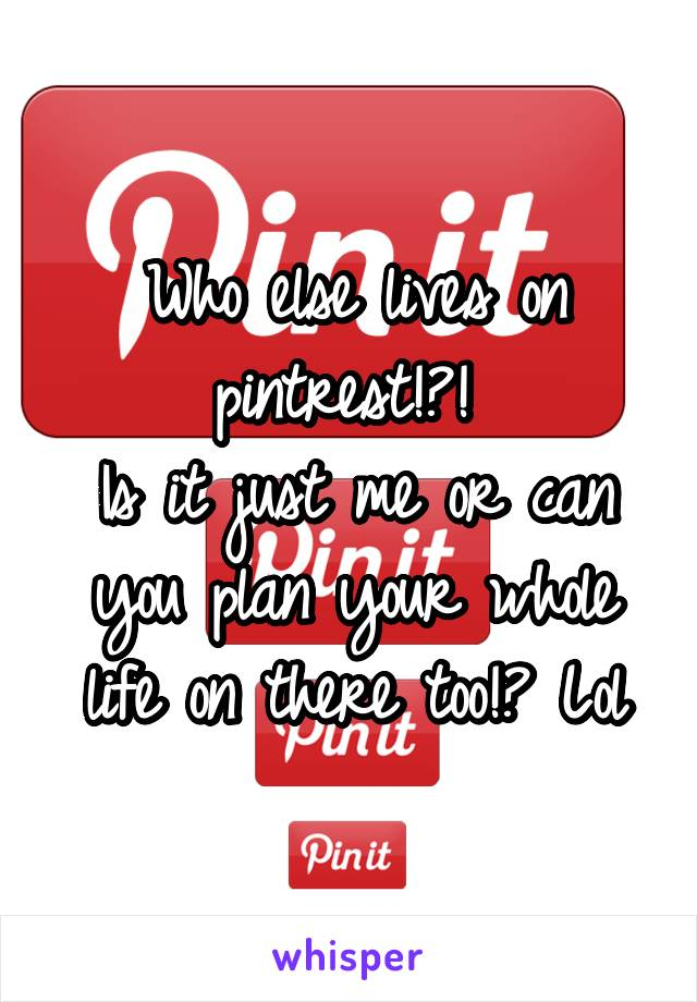Who else lives on pintrest!?!  Is it just me or can you plan your whole life on there too!? Lol