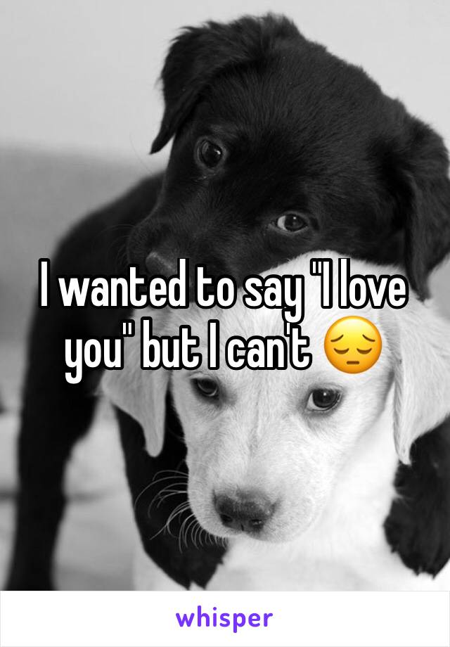 """I wanted to say """"I love you"""" but I can't 😔"""