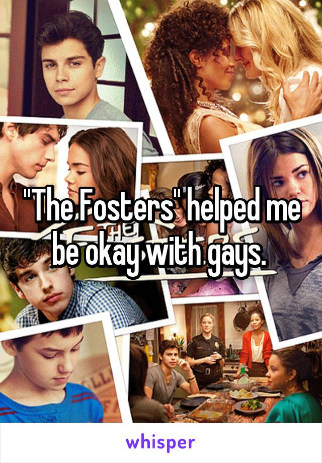 """The Fosters"" helped me be okay with gays."