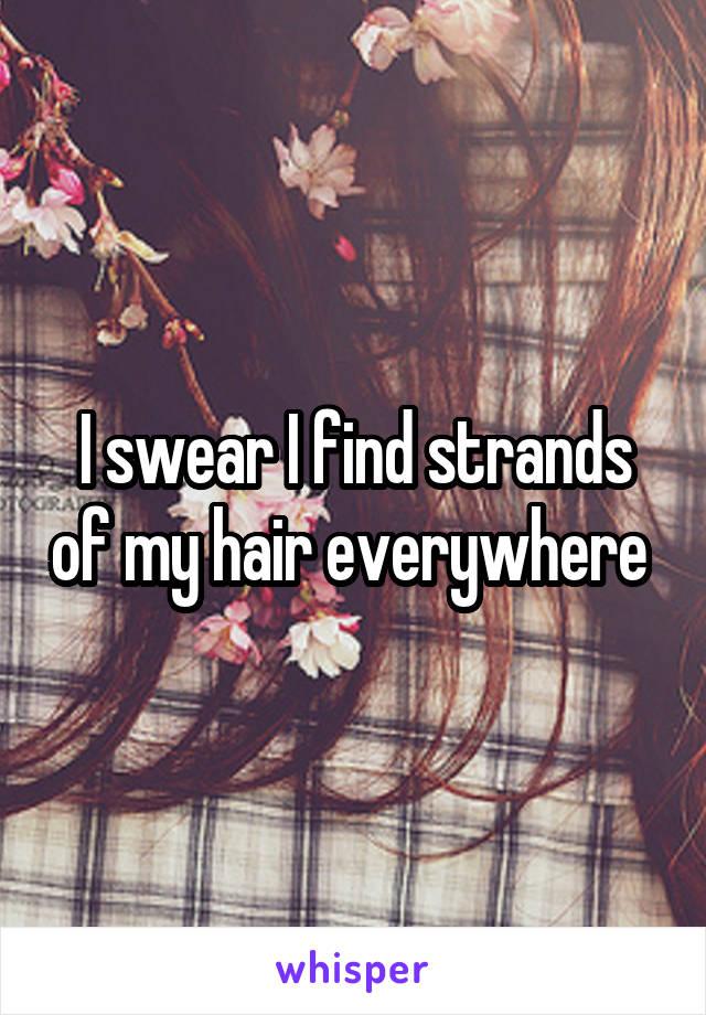 I swear I find strands of my hair everywhere