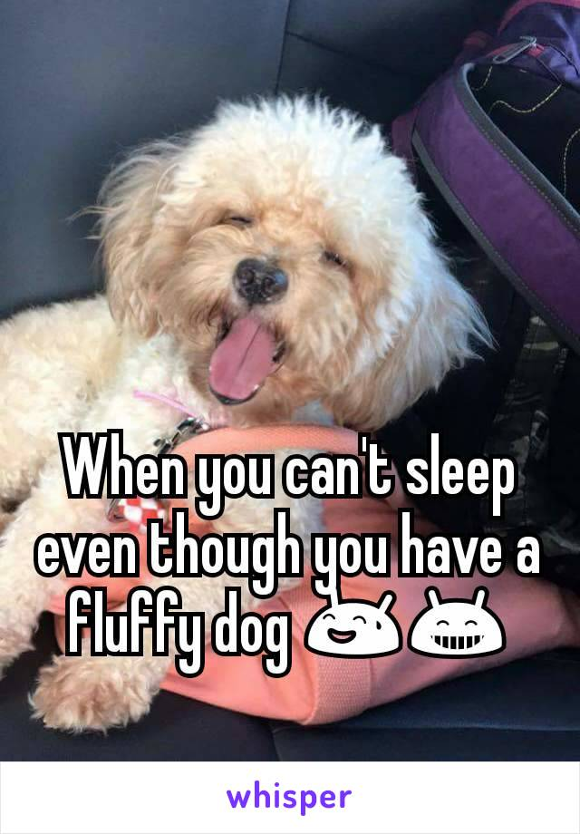 When you can't sleep even though you have a fluffy dog 😅😁