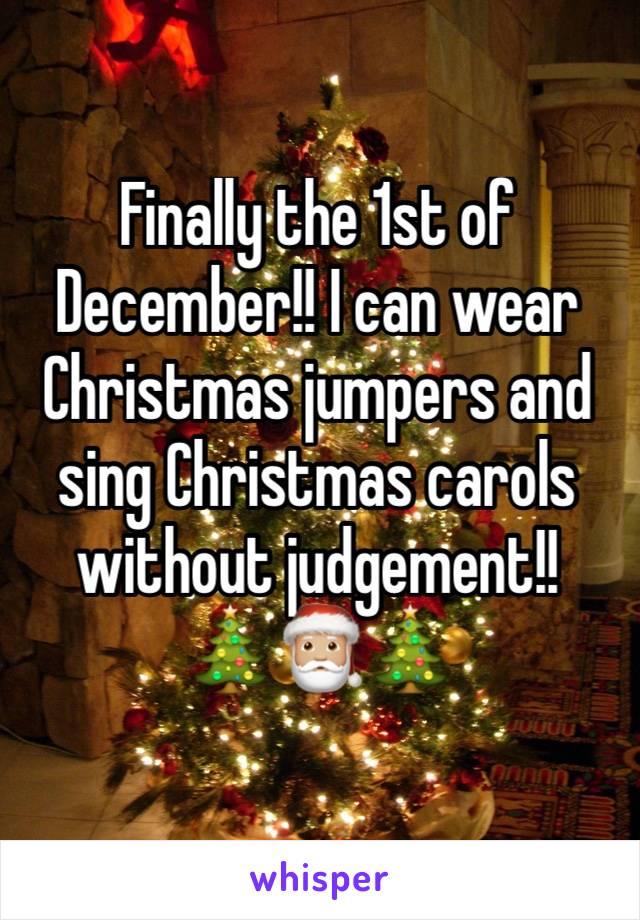 Finally the 1st of December!! I can wear Christmas jumpers and sing Christmas carols without judgement!! 🎄🎅🏼🎄