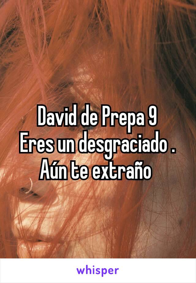 David de Prepa 9 Eres un desgraciado . Aún te extraño