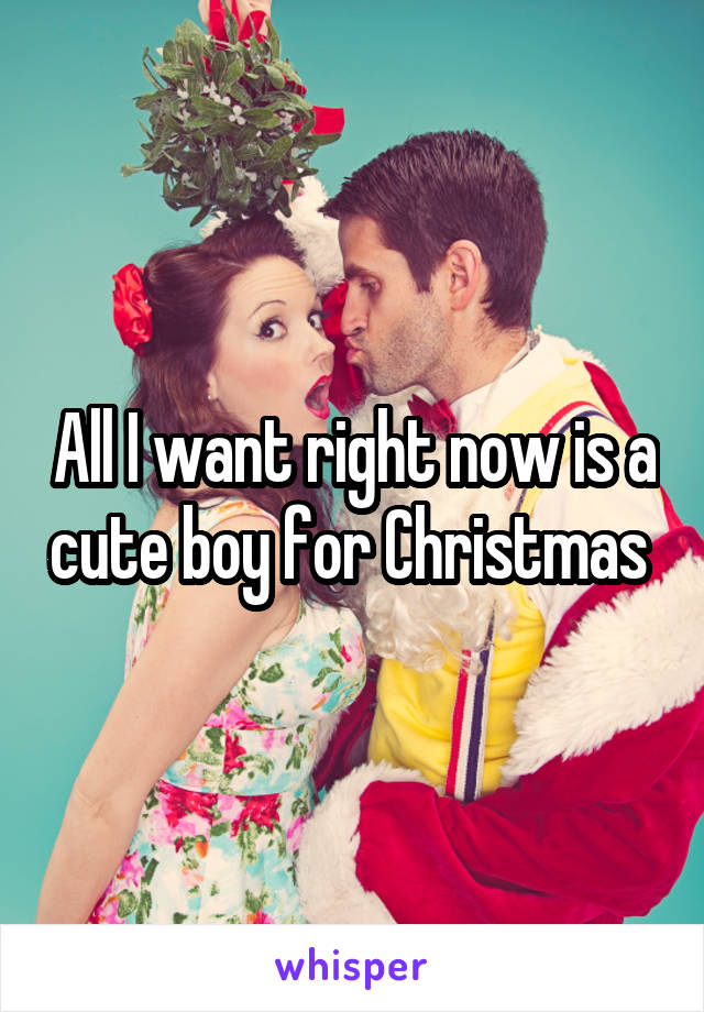 All I want right now is a cute boy for Christmas