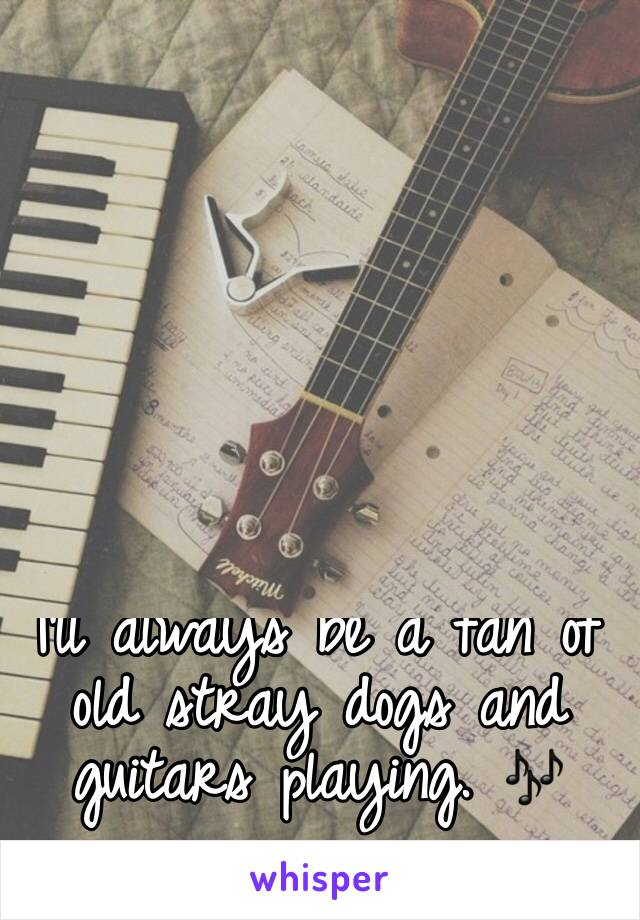 I'll always be a fan of old stray dogs and guitars playing. 🎶