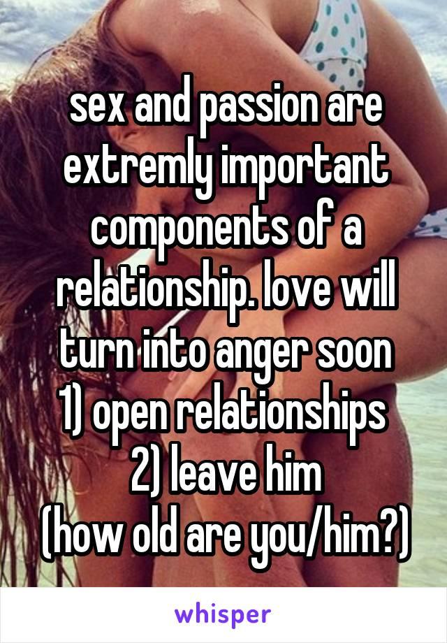 Anger passion sex