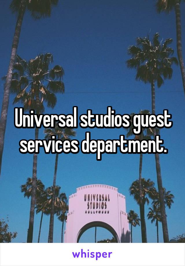 studios guest services department.