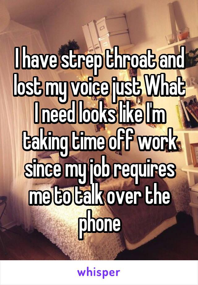 Job throat time