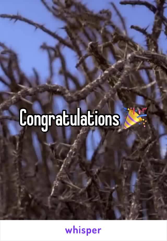 Congratulations 🎉