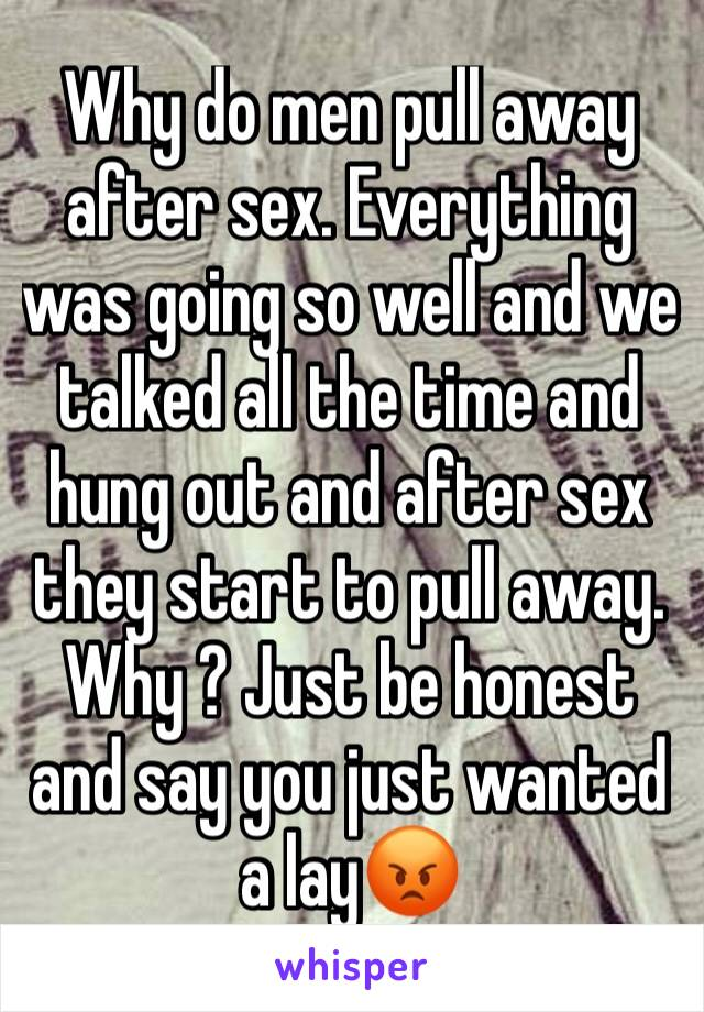 Why Do Men Pull Away After Sex