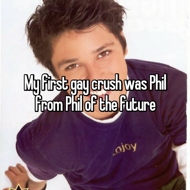 My first gay crush was Phil from Phil of the future