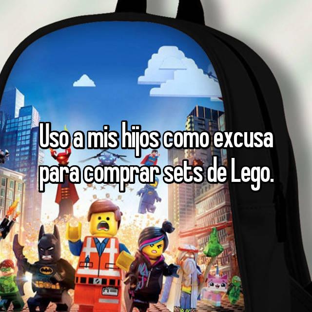 Uso a mis hijos como excusa para comprar sets de Lego.