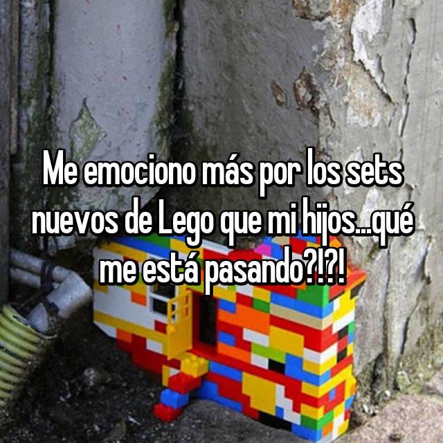 Me emociono más por los sets nuevos de Lego que mi hijos...qué me está pasando?!?!