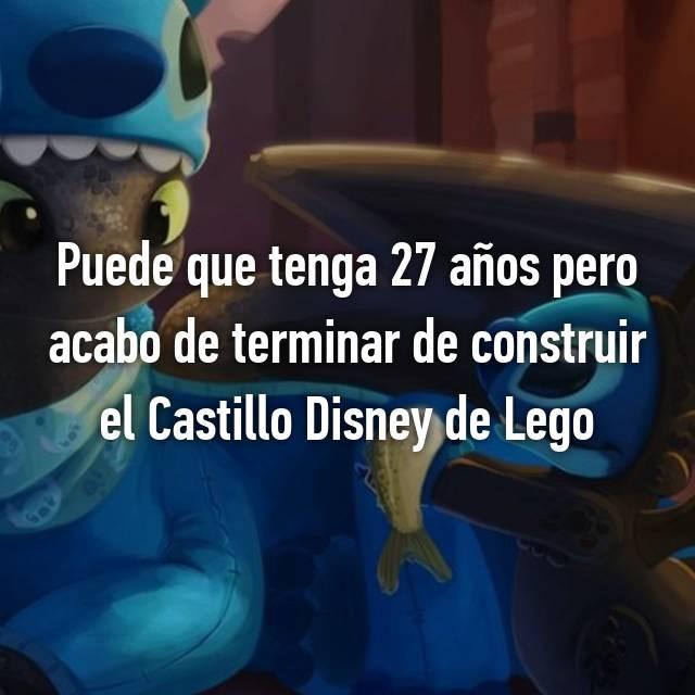 Puede que tenga 27 años pero acabo de terminar de construir el Castillo Disney de Lego