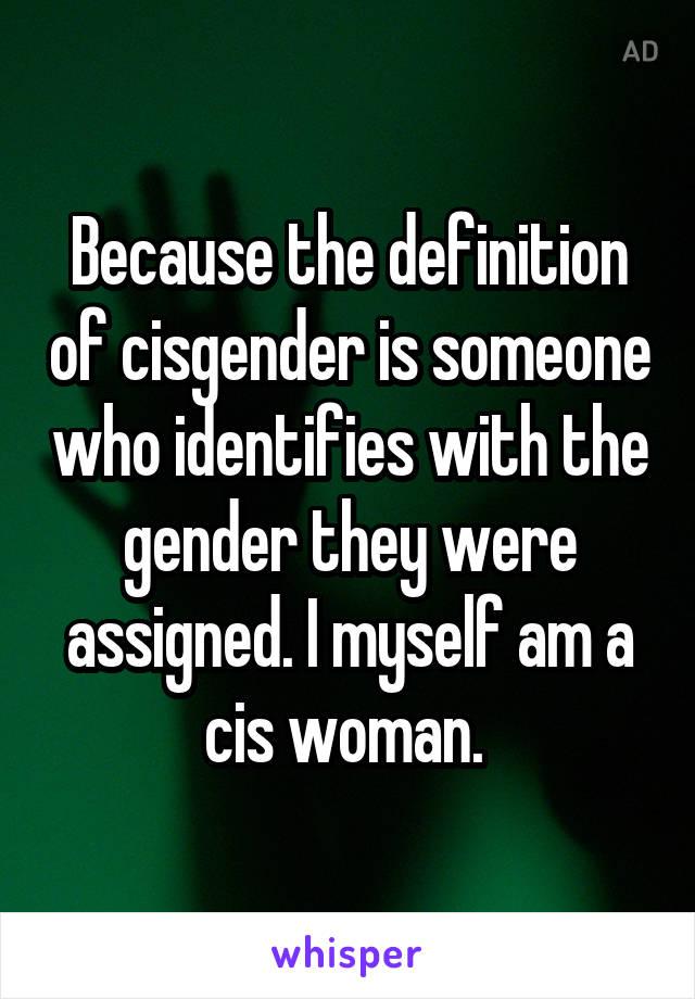 Cisgender Definition