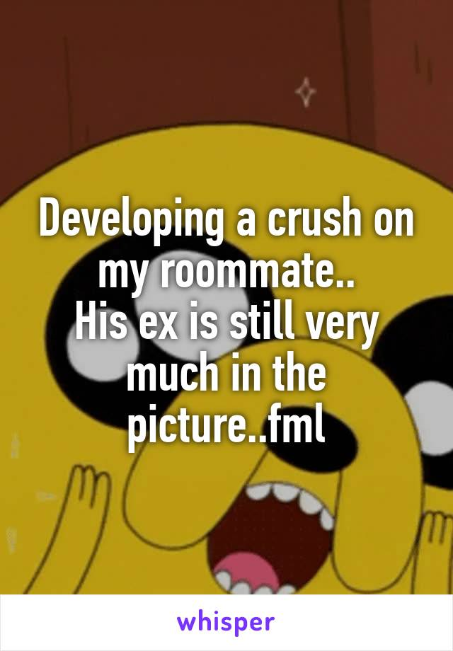 Developing a crush on my roommate.. His ex is still very much in the picture..fml