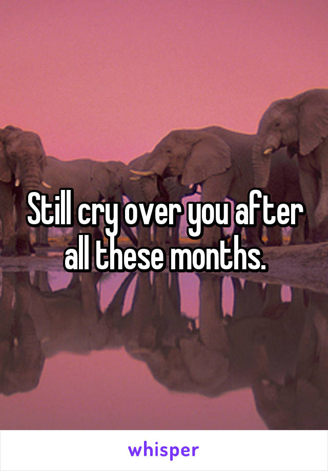 Still cry over you after all these months.