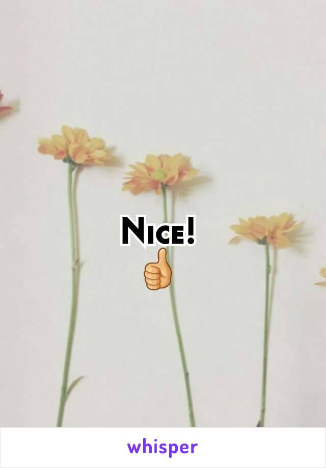 Nice!  👍
