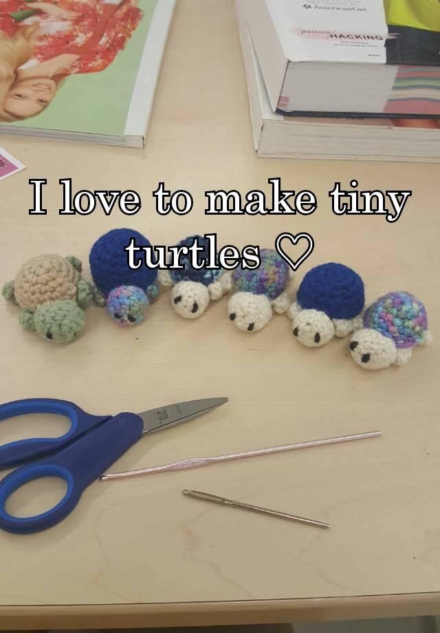 I love to make tiny turtles ♡