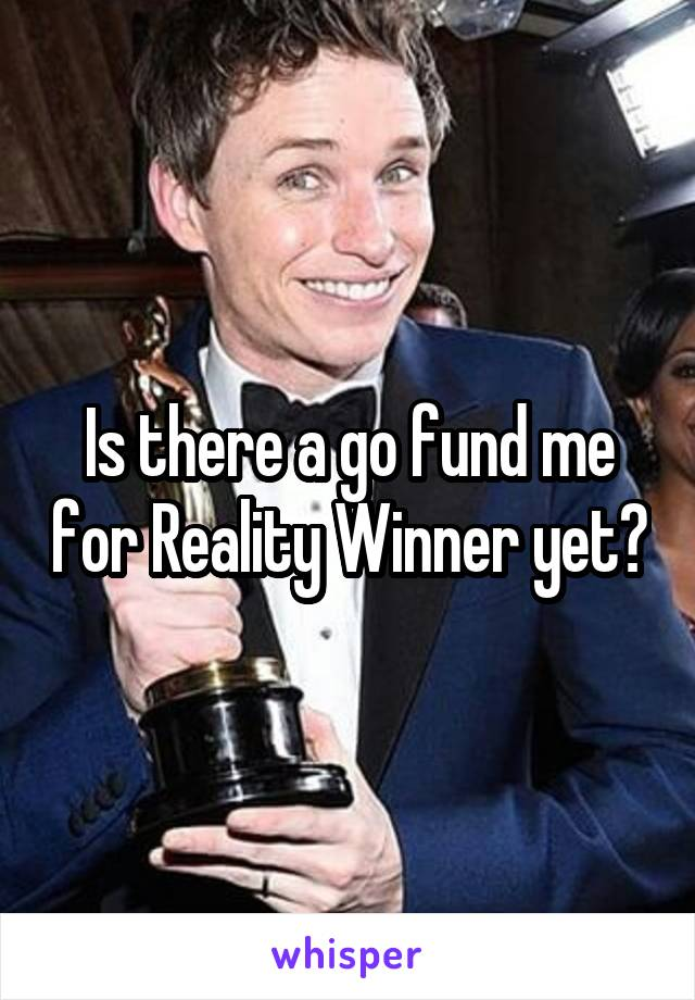 Is there a go fund me for Reality Winner yet?